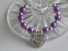 Wine Glass Charms Purple Choose Pack  Weddings ~ Hen Party ~ Occasions