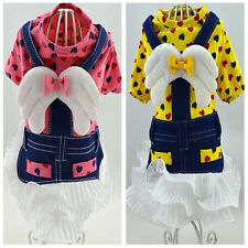 Good small girl dog pet clothes apparel angel bowtie princess dress size XXS-L