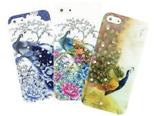3x Bling Crystals Peacock Soft TPU Silicone Gel Back Case Cover For Cell Phones