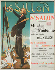 Vintage French Le Sillon ad print poster, large 4 sizes available