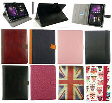 "Universal  Wallet Case Cover Stand  Folio with card slot for 7"" Tablet  + Stylus"
