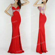 Long Mermaid Formal Evening Prom Cocktail Party Bridesmaid Bodycon Pageant Dress