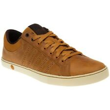 New Mens K-Swiss Brown Adcourt '72 Leather Trainers Tennis Style Lace Up