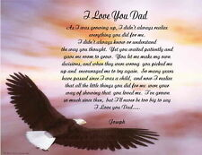 Father Dad Personalized Poem Gift For Birthday, Father's Day or Christmas