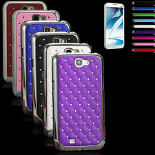 New Hybrid Rugged Rubber Bling Crystal Case Cover For Samsung GALAXY SV S5 i9600