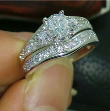 Low Price High Quality Jewelry 10kt white gold filled white Topaz Weeding Ring