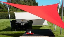 NEW TRIANGLE OUTDOOR SUN SAIL SHADE CANOPY COVER - RED