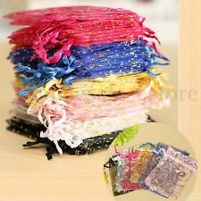 100X 7*9cm Organza Pouch Jewelry Gift Candy Wedding Party Favor Decoration Bags
