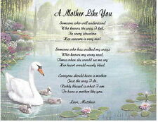 Mother, Mom Personalized Poem A Mother Like You Gifit For Birthday, Christmas