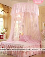 New Mosquito Net Fly Insect Protection Canopy Single Entry Twin King Size Pink