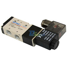 """3 way 2 position Solenoid Valve BSP Air 3/8"""" DC/AC Inner Pneumatic Electric NEW"""