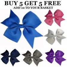 SATIN GROSGRAIN RIBBON BOW HAIR CLIP BRIDESMAID FLOWER GIRL ALIGATOR CLIPS