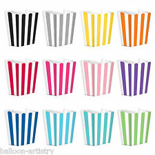 5 Cinema Stripes Treat Party SMALL Candy Favour Popcorn Bags Boxes In 1 Listing