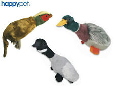 HAPPY PET MIGRATOR LARGE SOFT PLUSH DOG PUPPY TOY & SQUEAK REAL SOUND CHOICE