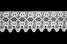 Unotrim 3 inches White and Ivory Floral Venice Lace Trim By Yard