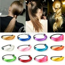 SYNTHETIC FIBER HAIRPIECE EXTENSION WIG PONYTAIL ELASTIC HAIR BAND ROPE HOLDER