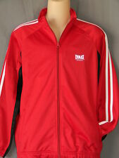Everlast Longsleeve Red Jacket Kids Sizes Boxing Gym Training MMA Full Zip Fight