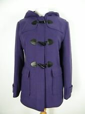 Purple Wool Mix Duffle Coat With Hood Brand New Size 6-20