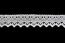 Unotrim 1 and 3/4 inches Offwhite and White Venice Guipure Lace Trim By Yardage