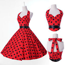 Vintage Polka dot Party Swing 50's Housewife pinup Summer Rockabilly Swing Dress