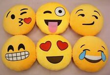 Emoji Cushion Pillow Emoticon Yellow Round Stuffed Plush Soft Toy iPhone Decor