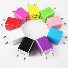 2.1A 1A Dual Ports USB Wall Home AC Charger EU Adapter For Phone And Tablet