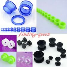 2-16MM Double Flare Transparent Acrylic Ear Tunnels Plugs Earlet Gauge Stretcher