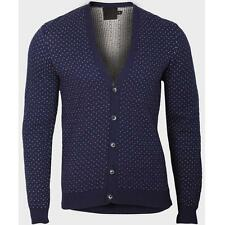 Mens ASOS Polka Dot Cardigan Sweater Jumper Vintage Button Cotton ★S M L XL XXL