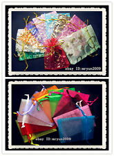 100pcs Organza Jewellery Xmas Holidays Cards Party Supply Gift Wrap Gift Bags