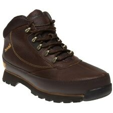 New Mens Timberland Brown Euro Brook Leather Boots Hikers Lace Up