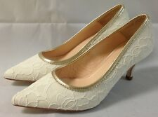 RACHEL SIMPSON Ivory Court Heels. 'CHLOE'. Various Sizes. BNIB.