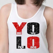 YOLO You Only Live Once T-shirt Drake Motto cool The Weeknd Adult Tank Top