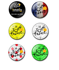 Le Tour de France 2014 25mm button pin badge Yorkshire Rose, Leeds, Grand Depart
