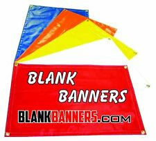 BLANK BANNERS All Sizes - RED, WHITE, BLUE, BLACK, YELLOW, GREEN, Vinyl TARPS
