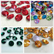 Rivoli Point back Rhinestones All Colors & Sizes Crystal Glass Chatons Strass