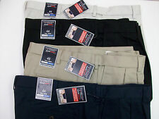 Roundtree & Yorke Travel Smart Pleated Expander Waist Shorts Black Blue Tan NWT