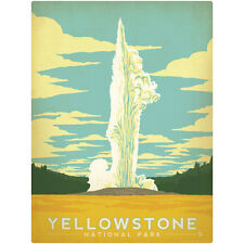 Yellowstone Natl Park Old Faithful Wall Decal Vintage Style Nature Decor
