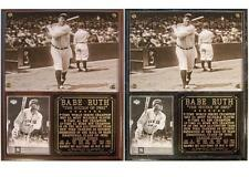 Babe Ruth #3 New York Yankees Photo Card Plaque Bambino Sultan of Swat