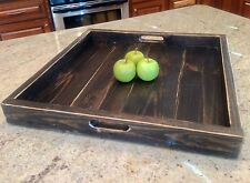extra large reclaimed pallet wood square serving ottoman tray 21 x 21