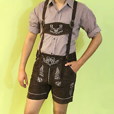 Bavarian LEDERHOSEN Leather Plattlerhosen Pants Shorts Oktoberfest Suede Leather