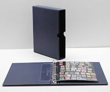VARIO Blue 3 Ring Binder w 20 Eight Pocket Pages for Stamp Collecting & Other
