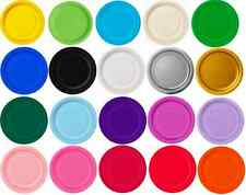 16 X PAPER PARTY PLATES WEDDING COLOURS BIRTHDAY TABLEWARE EVENT OCCASION THEMED