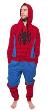 Marvel Comics Spider-Man Costume One Piece Jumpsuit / Pajamas