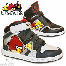 Boys Angry Birds Hi Tops Character Pumps Plimsolls High Trainers Boots Kids Girl