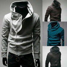 High Collar Men's Jacket Coat Zip Hoodie Sweater Overcoat Outwear Tops Clothes