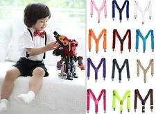GO US New Children Kids Boy Girls Clip-on Suspenders Elastic Adjustable Braces