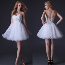 Pure Angel Evening Prom Gowns Wedding Cocktail Bridesmaid Party Short Tutu Dress