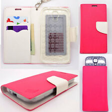 IDENTITY Pink Lotus Universal Wallet Phone Case Pouch Flip Cover For LG