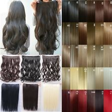 UK Post Long Clip In hair extensions accessories Top Quality black brown blonde