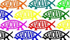 Evolve Fish Parody Sticker Decal Jesus Darwin Sci-Fi Science Trekkie n' Chips